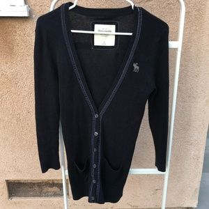 Abercrombie & Fitch Navy Cardigan